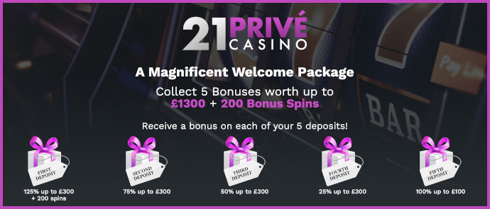 21prive casino bonus
