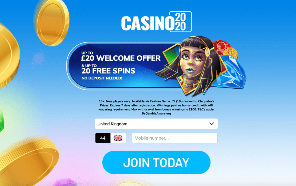casino2020 sign up form