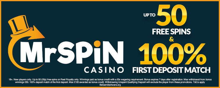 mr spin casino banner